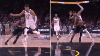 Chris Paul Accused Of Committing Dirty Play On Giannis Antetokounmpo During Game 1 Of The NBA Finals