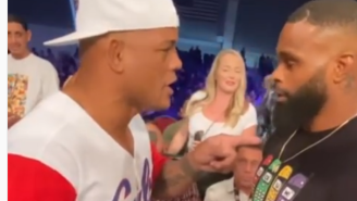 Video Shows Former UFC Fighter Hector Lombard Confronting Tyron Woodley For Allegedly Hooking Up With His Sidechick