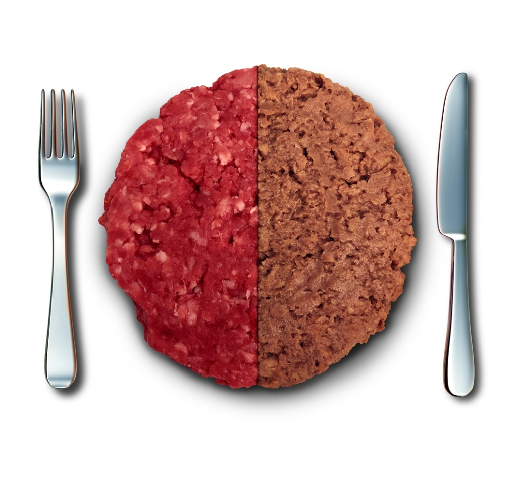 plant based meat vs. real meat comparison