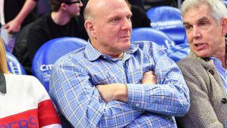 Steve Ballmer's Bizarre Third Quarter Celebration Cursed The Clippers