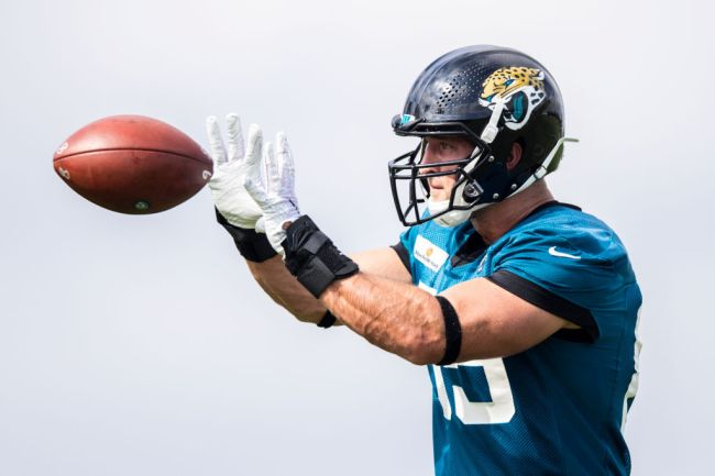 tim tebow catches td jaguars practice