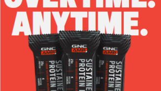 GNC AMP Sustained Protein Bars – Buy One, Get One 50% Off