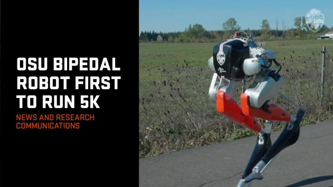 A Bipedal Robot Just Made History By Running A 5K On Outdoor Terrain