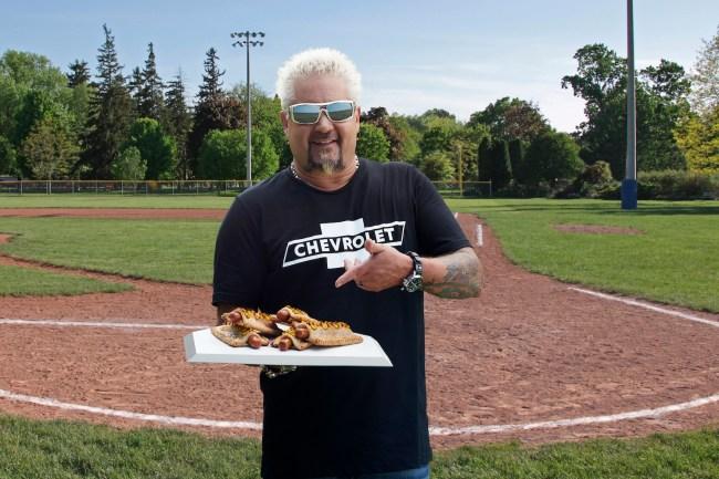 apple pie hot dog Guy Fieri