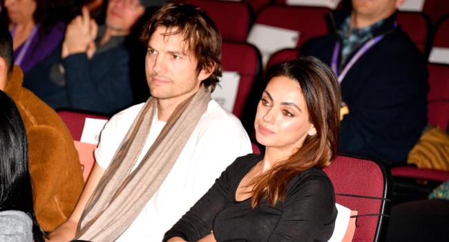 Ashton Kutcher Mila Kunis Make Video Mocking Celebrity Bathing Debate