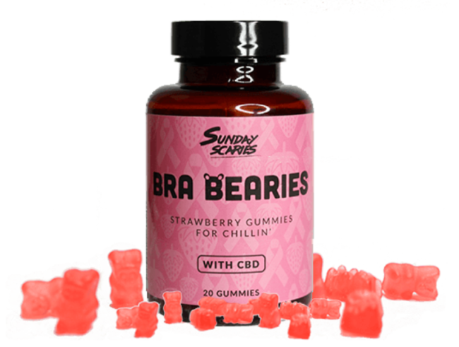 Bra Bearies Strawberry CBD Gummies