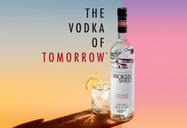 Broken Shed Vodka from New Zealand