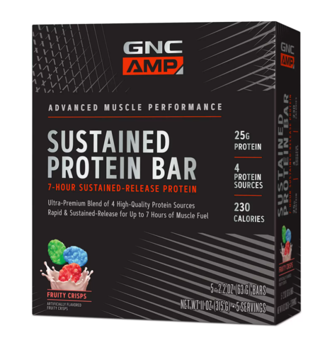 GNC AMP Sustained Protein Bar