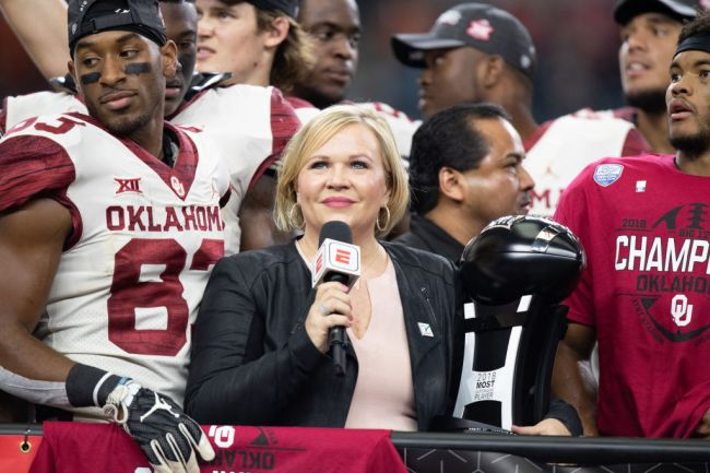 Holly Rowe ESPN College Football Sideline Reporter
