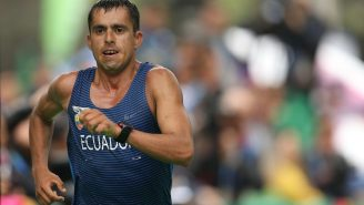 The Last-Place Olympic Race Walker Collapsed In Tears Of Joy After Finishing An Hour Behind The Winner