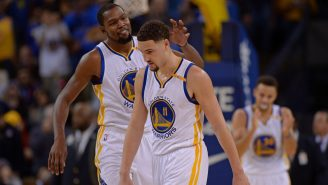 Kevin Durant Couldn't Help But Troll Klay Thompson For Draining 10 Straight Three-Pointers