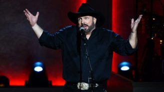 Two Shirtless Fans Jumped On Stage At A Garth Brooks Concert During A Massive Thunderstorm