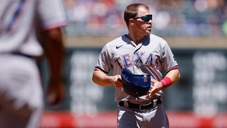WATCH: Rangers 3B Brock Holt Threw The Slowest Strike In MLB History