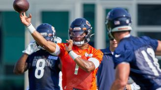 Justin Fields Is Dropping Bombs At Training Camp And Chicago Bears Fans Are Losing Their Minds