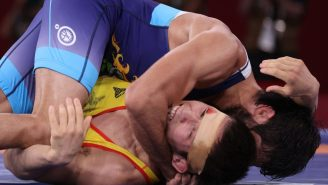 A Wrestler Bit His Opponent During The Olympic Semifinal And Left A Gnarly Bite Mark