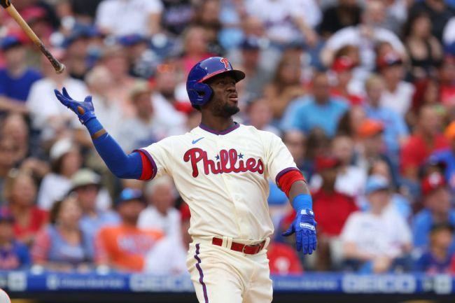 Obdubel Herrera Philadelphia Phillies Bat Flip