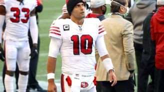 49ers Fans Are Calling For Jimmy Garoppolo To Be Traded After Trey Lance Throws 80 Yard TD Pass In Second Career Throw