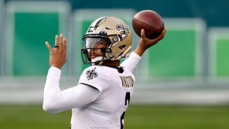 Saints Fans React To Video Of QB Jameis Winston Hilariously Struggling To Run Through Tackle Machine At Practice