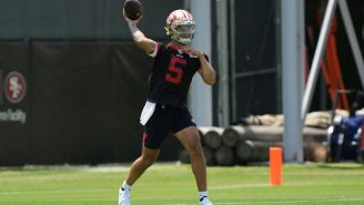 The 49ers Might Use Two QBs In 2021 Because Trey Lance Keeps Making Ridiculous Throws
