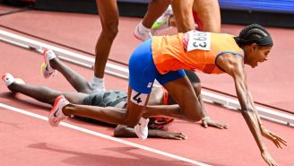 An Olympic Runner Tripped On The Final Lap, Went From Last To First With Insane Comeback Win