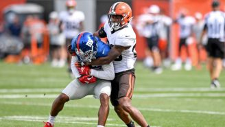 Giants/Browns Joint Practice Ended In An Actual Fist Fight And This Square-Up Couldn't Be Funnier