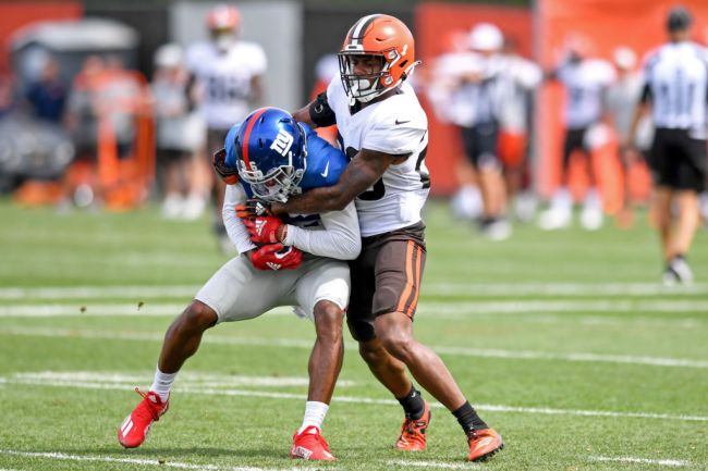 Giants Brown Training Camp Fight
