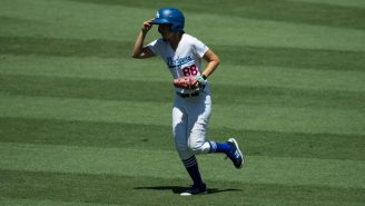 A Fan Ran On The Field At Dodger Stadium And The Ball Girl Sent Him Into Next Week With A Vicious Tackle