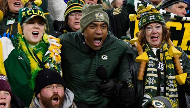 Matt LaFleur Packers fans cheering wave
