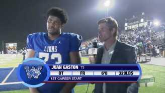 6-Foot-8, 320-Pound Georgia High School OL Juan Gaston Is The World's Largest Freshman