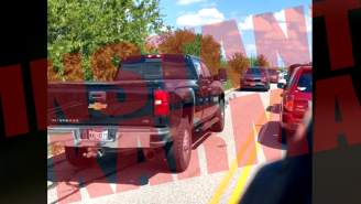 TikTok Video Goes Viral When Instant Karma Is Delivered To Driver Trying To Cut In Line