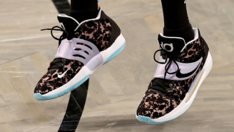 Kevin Durant's Hair Get Roasted Again After A Fan Notices An Uncanny Design On His Signature Shoe