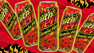 Mountain Dew Is Dropping A Flamin' Hot Cheetos Flavor And The World Will Never Be The Same