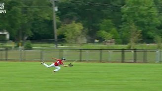 WATCH: Little Leaguer Makes Ridiculous Diving Catch To Send His Team To Williamsport