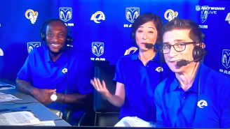 WATCH: Mina Kimes Laughed Off An Awkward Moment After Getting Caught In The Booth