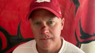 Arkansas' AD Was Kicked In The Face At Practice And Made A Hilarious Bobby Petrino Motorcycle Joke