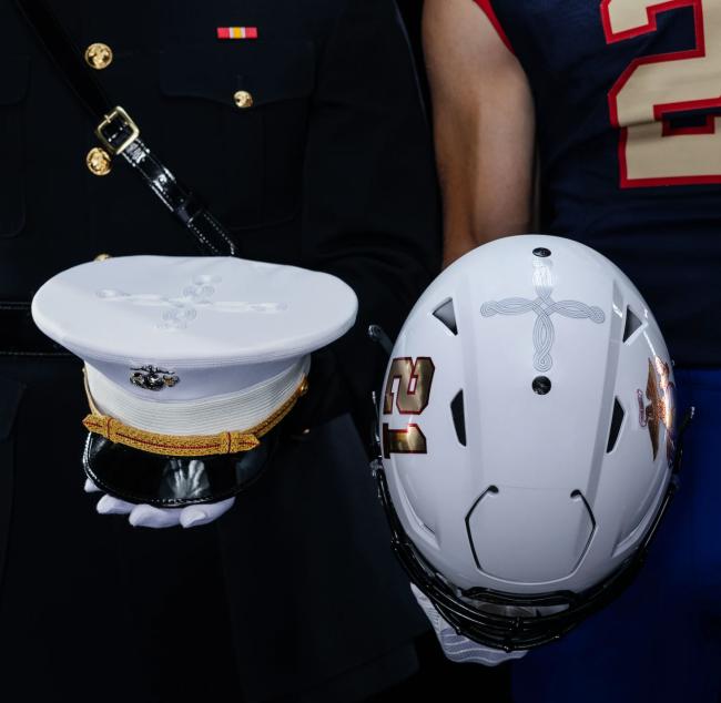 Quatrefoil USMC Navy Football