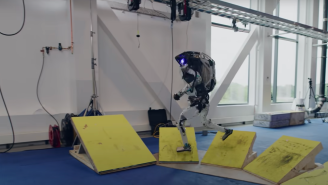 WATCH: Backflipping Robots Show Off Parkour Skills In New Boston Dynamics Video