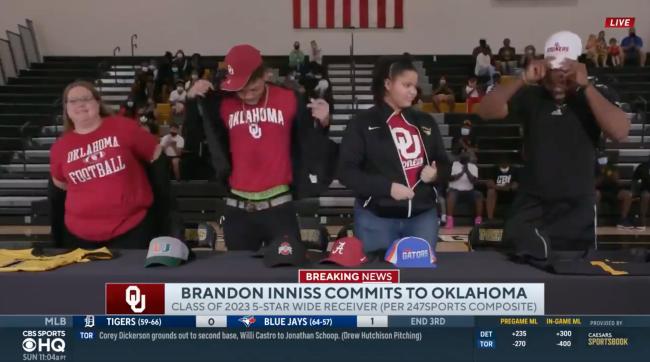 Brandon Innis Oklahoma Commitment