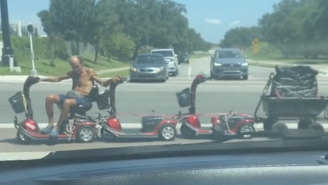 This Florida Man Driving A Redneck Locomotive Is As 'Florida Man' As It Gets