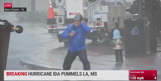 Jim Cantore Weather Channel Louisiana Hurricane Ida