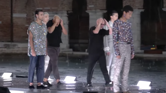 A Freak Hailstorm Caused Rich People To Run For Cover At The Dolce & Gabbana Fashion Show