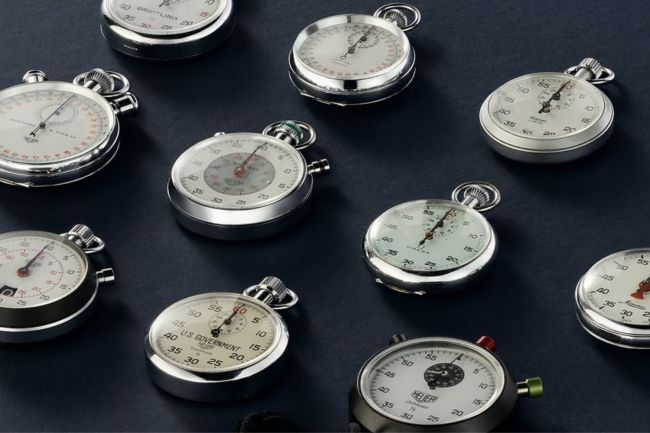 Tracksmith x Wind Vintage Stopwatch Collection
