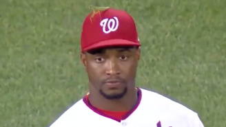 Victor Robles (Probably) Made History By Playing An MLB Game While A Praying Mantis Chilled On His Hat