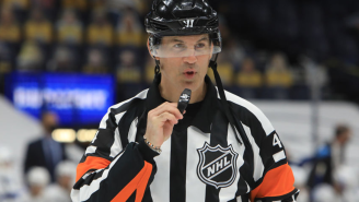 NHL Ref Wes McCauley Rocked A Suit Featuring An Incredible Piece Of Flair While Officiating A Wedding