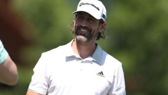 Aaron Rodgers Very Smartly Upped His Calve Workouts Prior To Playing Phil Mickelson In The Match
