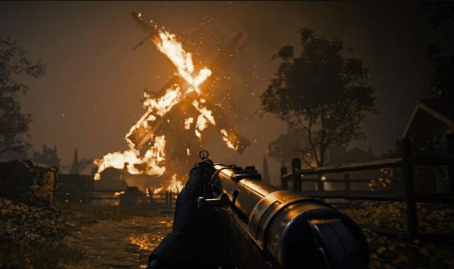 Call of Duty: Vanguard World War II battle video screenshot.