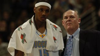 Carmelo Anthony Stans Rush To His Defense Over George Karl Shade Because Melo Can't Even Defend Himself