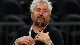 Guy Fieri Dropped A Laughable Amount Of Money On Live Pigs At An Auction Just Because He Could