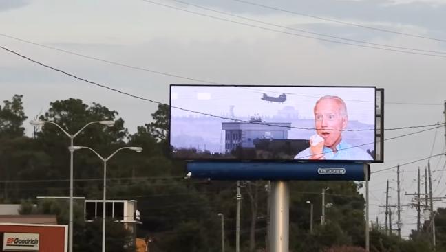 joe biden billboard hack