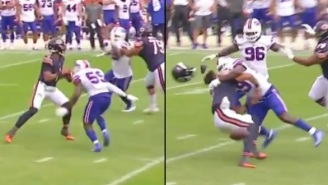 Fans Remind Justin Fields About His Game Is 'Kind Of Slow' Comment After He Gets Absolutely Destroyed By Vicious Hit From Bills LB  Andre Smith